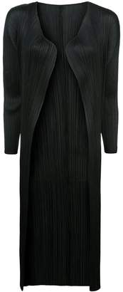 Pleats Please Issey Miyake mid-length pleated jacket