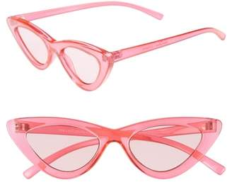 Le Specs Adam Selman X Luxe Lolita 49mm Cat Eye Sunglasses