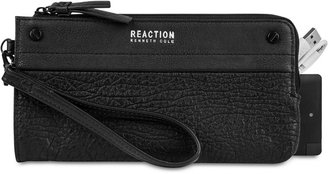 Kenneth Cole Reaction RFID Wristlet Wallet with Portable Phone Charger $78 thestylecure.com