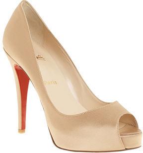 Christian Louboutin Satin Very Prive - Nude