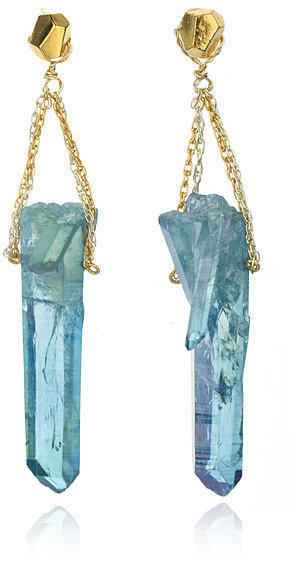 Pade Vavra Aqua Aura Spear Drop Earrings
