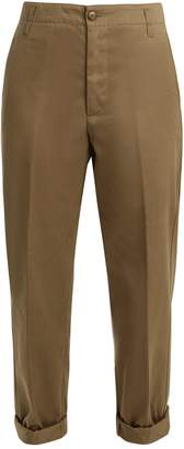 Golden Goose Golden cotton-twill cropped chino trousers