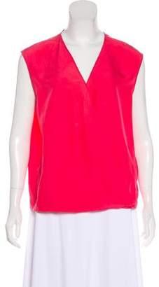 MM6 MAISON MARGIELA Sleeveless Silk Blouse
