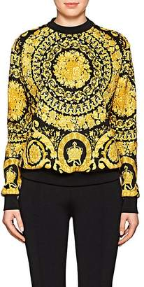 Versace Women's Baroque-Print Cotton-Blend Sweatshirt