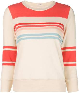 Mother striped slim-fit sweatshirt