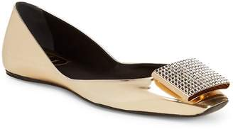 Roger Vivier Women's Metallic Leather Flats
