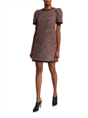 Kate Spade Puff-Sleeve Tweed Shift Dress