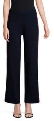 TSE x SFA x SFA Women's Side Stripe Knit Cashmere Pants - Navy Red - Size Small