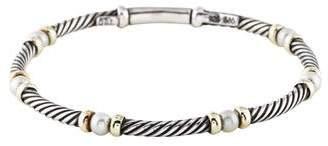 David Yurman Pearl Station Cable Bracelet