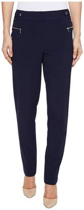 Calvin Klein Straight Leg Pants with Buckle and Zip Women's Casual Pants