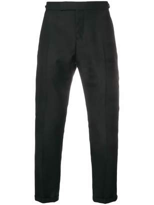 Thom Browne Sateen 4-Bar Silk Tipping Trouser