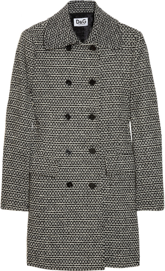 D&G Double-breasted wool-blend coat