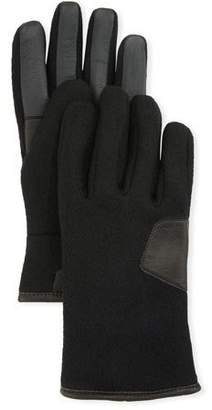 UGG Men's Fabric & Leather Touchscreen Gloves