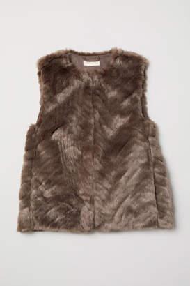H&M Faux Fur Vest - Brown