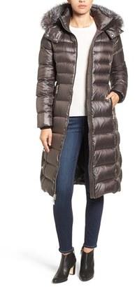 Women's Andrew Marc Down Coat With Genuine Fox Fur Trim $695 thestylecure.com
