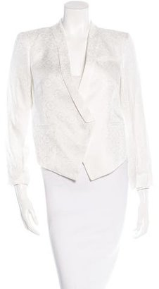 Helmut Lang Jacquard Asymmetrical Blazer w/ Tags $195 thestylecure.com