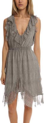 L'Agence Sophie V Neck Flutter Dress