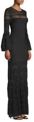 Herve Leger Bell-Sleeve Bandage & Knit Gown