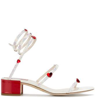 Rene Caovilla heart embellished sandals