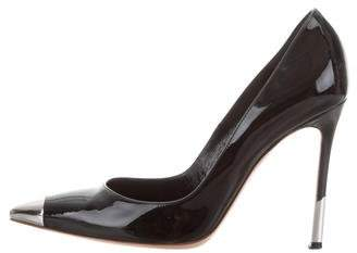 Gianvito Rossi Patent Leather Cap-Toe Pumps
