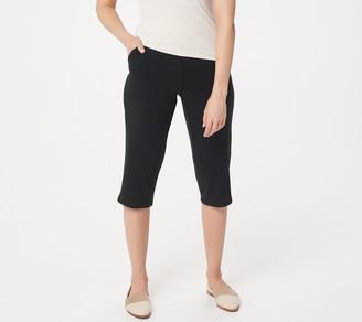 Denim & Co. Active French Terry Slim Leg Capri Pants w Pockets