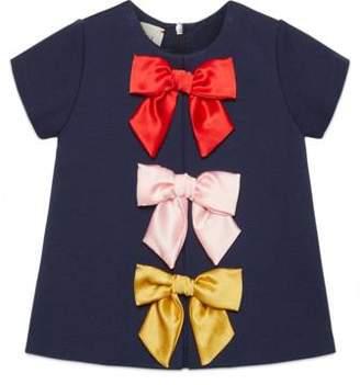 Gucci Baby viscose dress with bows