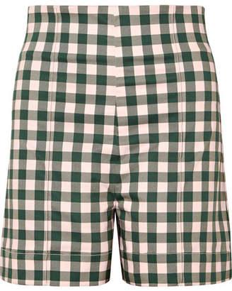Silvia Tcherassi - Sellian Gingham Cotton-blend Shorts - Green