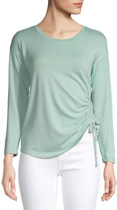 Style&Co. Style & Co. Petite Ruched Long-Sleeve Top