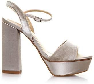 Lola Cruz Taupe Guinda Velvet Sandal