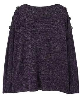 Violeta BY MANGO Buttoned flecked sweater