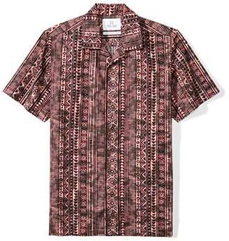 28 Palms Men's Standard-Fit 100% Cotton Tropical Hawaiian Batik Shirt