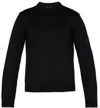 Prada Crew Neck Wool Sweater - Mens - Black
