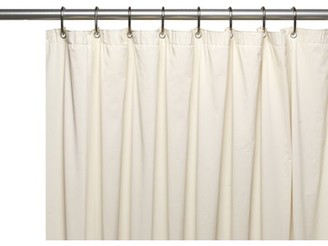 Carnation Home Fashions 3 Gauge Vinyl Shower Curtain Liner w/ Weighted Magnets and Metal Grommets in Bone