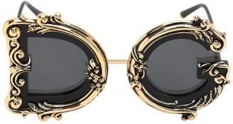 Dolce & Gabbana Barocco Embellished Sunglasses