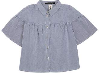 Scotch R'Belle Kids' Striped Cotton Bell-Sleeve Blouse