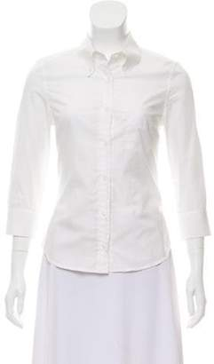 Boy By Band Of Outsiders Long Sleeve Button-Up Top White Long Sleeve Button-Up Top