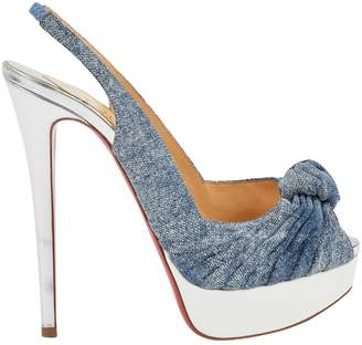 Christian Louboutin Private Number cloth heels