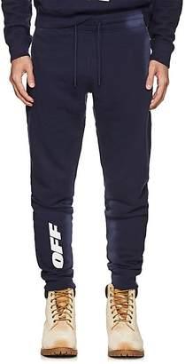 Off-White Men's Logo Cotton Fleece Jogger Pants