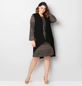Avenue Striped Hacci Jacket Dress
