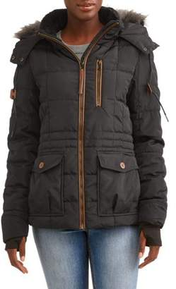 Iceburg Women's Arrow Insulated Quilted Parka