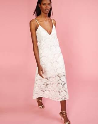 Cynthia Rowley Maya Lace Slip Midi Dress