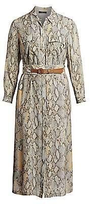 Lafayette 148 New York Lafayette 148 New York, Plus Size Women's Snakeskin-Print Doha Midi Dress