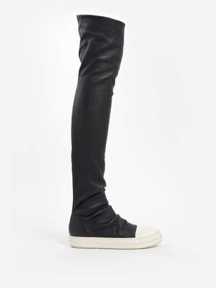 cbf118ca0ef Rick Owens WOMEN S BLACK OVER KNEE SOCK BOOTS