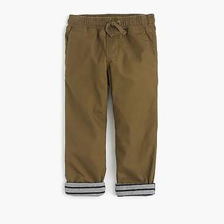 J.Crew Boys' lined chino pull-on pant
