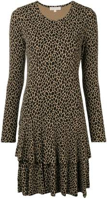 MICHAEL Michael Kors leopard print shift dress