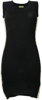 Versace side stripe mesh dress