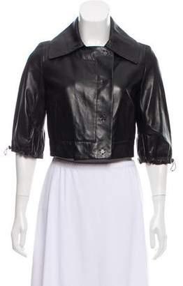 Kaufman Franco KAUFMANFRANCO Crop Leather Jacket w/ Tags