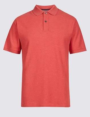 Marks and Spencer Pure Cotton Pique Polo Shirt