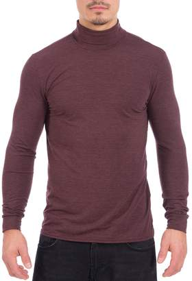 Point Zero Men's Dri-Fit Turtle Neck Long Sleeve Athletic Peformance Shirt