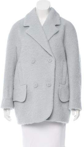 Carven Carven Virgin Wool Double-Breasted Coat